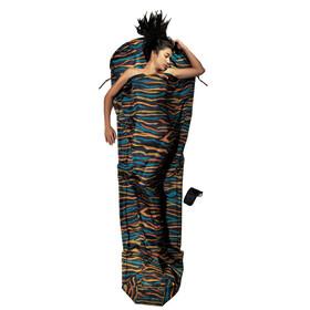 Cocoon MummyLiner Slaapzak en Inlet Silk blauw/zwart
